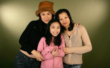 Vivian Wu, Phoebe Jojo Kut and Director Julis Kwan at the 2006 Sundance Film Festival.